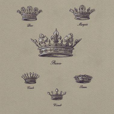 Dessin des couronnes classique