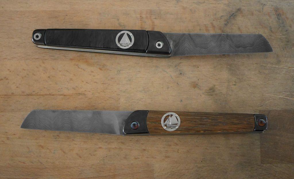 Photo des couteaux terminés